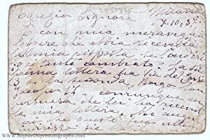 Autograph Letter Signed to 'Dear Signore', in Italian with translation, (Luisa, 1871-1940, Italia...