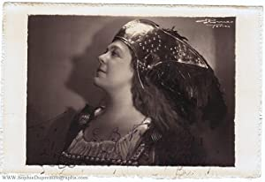 Marvellous portrait photo by E. Romeo of Turin, signed and inscribed (Dame Eva, 1892-1990, Sopran...