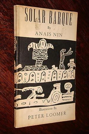 SOLAR BARQUE (1st edition): Nin, Anais