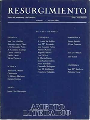 Resurgimiento. Revista del pensamiento y de la estética: VV. AA.