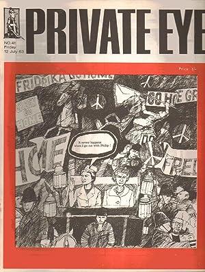 Private Eye No. 41. Friday 12 July 1963: Edited by Richard Ingrams