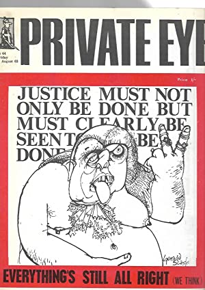Private Eye No. 44. Friday 23 August 1963. Front Cover Drawing by Gerald Scarfe: Richard Ingrams: ...