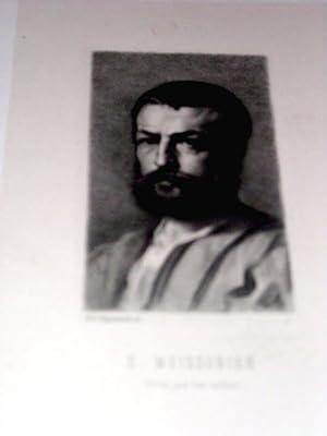 Lithographie originale du 19e siècle. Un portrait: LITHOGRAPHIE - REGNAULT