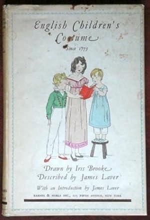English Children's Costume Since 1775: Laver, James &