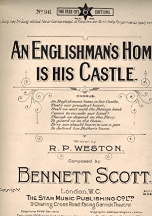 An Englishman's Home is His Castle - Vintage Sheet Music