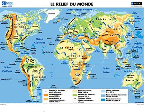 3133090526383: Planisphères : Relief/Politique