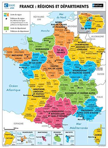 3133090526734: La France : Relief / Régions et départements