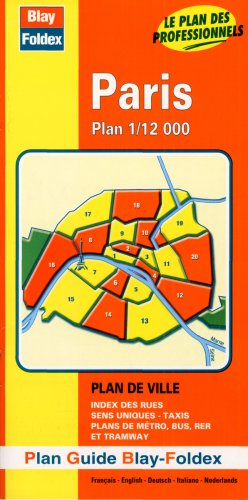 3135561602053: Plan de ville : Paris carte (avec un index)