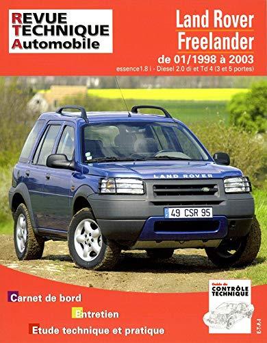 3176420511031: REVUE TECHNIQUE AUTOMOBILE; TAP422 LAND ROVER FREELANDER DE 01/1998 A 2003