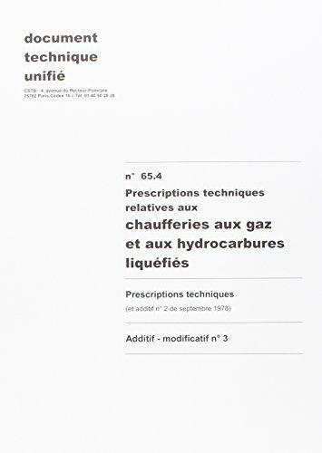 3260050845687: Dtu 65.4 Chaufferies au Gaz et aux Hydrocarbures Liquefies