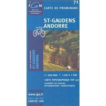 3282111007148: Carte IGN de promenade Saint-Gaudens Andorre : 1/100 000 N°71