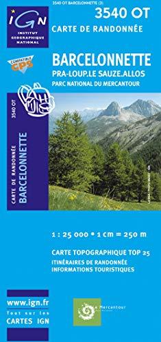 3282113540025: Barcelonnette, Pra-Loup, Le Sauze, Allos ~ IGN Top 25 3540OT (Paper Version)