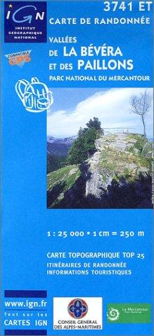 3282113741521: Vallee De la Bevera ~ IGN Top 25 3741ET (Paper Version)