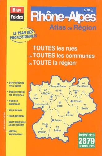3292110382214: Le Blay Rhône-Alpes - Toutes les rues de Toutes les communes de Toute la région