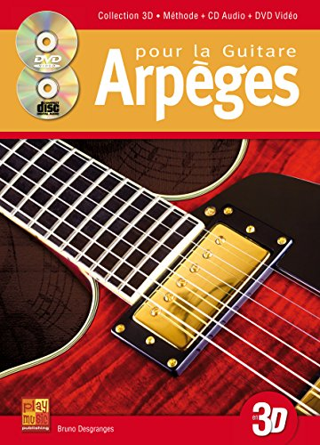 3555111001851: Desgranges Arpeges Pour L'Improvisation A La Guitare 3D Gtr Bk/Cd/Dvd