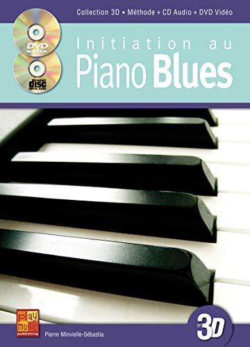 3555111002018: Initiation au piano blues en 3D (1 Livre + 1 CD + 1 DVD)
