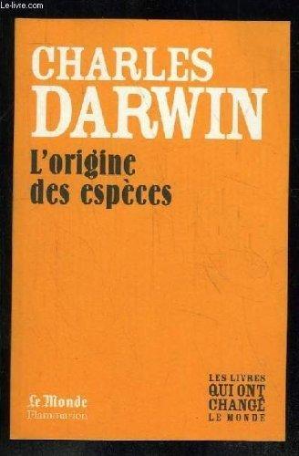 L'Origine des espèces: DARWIN CHARLES.