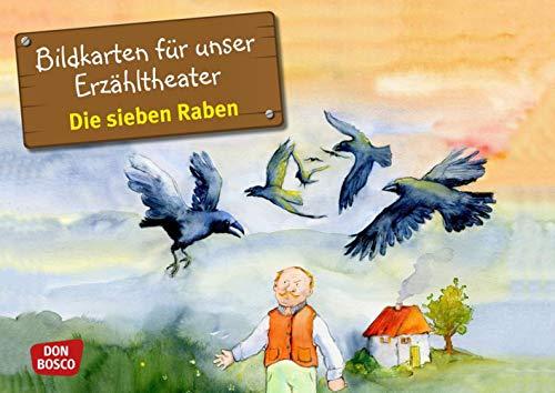 Bildkarten für unser Erzähltheater: Die sieben Raben: Grimm, Brüder
