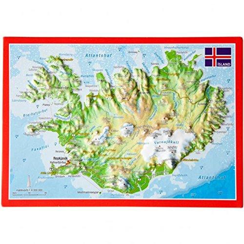 Reliefpostkarte Island: Markgraf, André; Engelhardt,