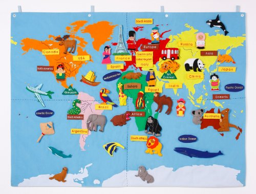 4710971151088: Cloth map of the world (japan import)