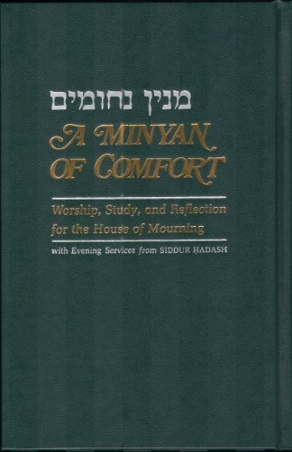 9780000019394: A Minyan of Comfort: Evening Services for the House of Mourning