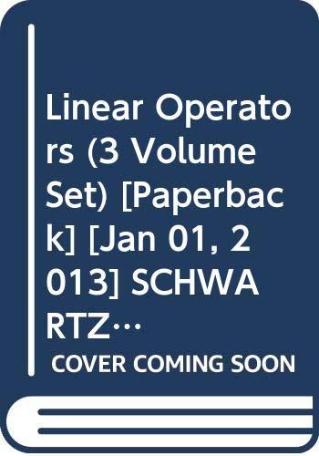 9780000105882: Linear Operators (3 Volume Set)