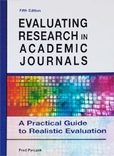 9780000174079: Evaluating Research in Academic Journals - A Practical Guide to Realistic Evaluation (5th Fifth Edition) - By Fred Pyrczak