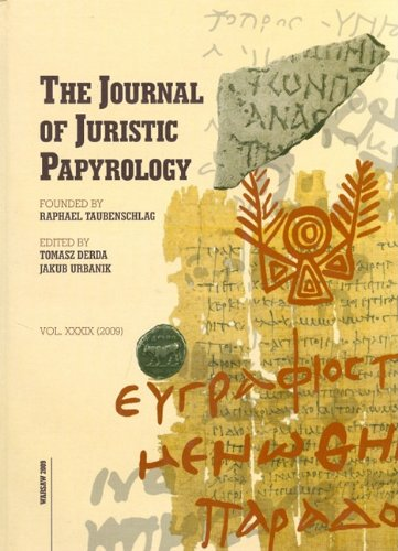 Journal of Juristic Papyrology 35 (2005) (Journal