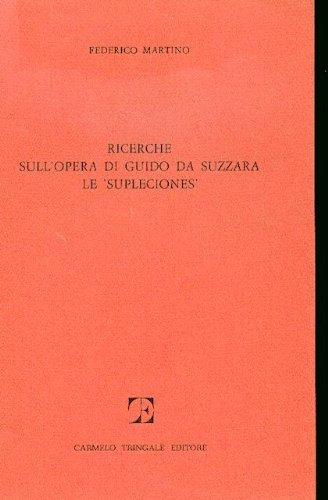 9780000992185: Ricerche sull'opera di Guido da Suzzara Le