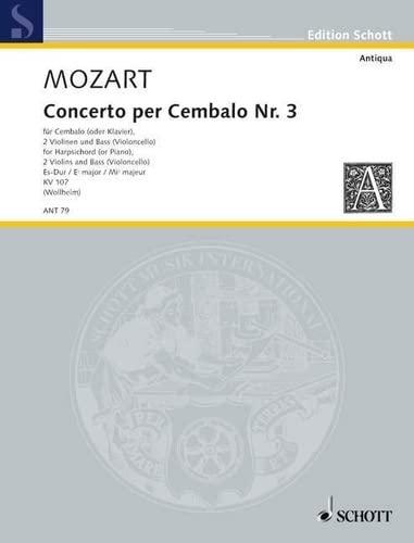 9780001002906: Concerto III Es-Dur KV 107