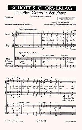9780001007451: Die Ehre Gottes in der Natur op. 48/4 - TTBB or SATB a cap. or with Brass - Book