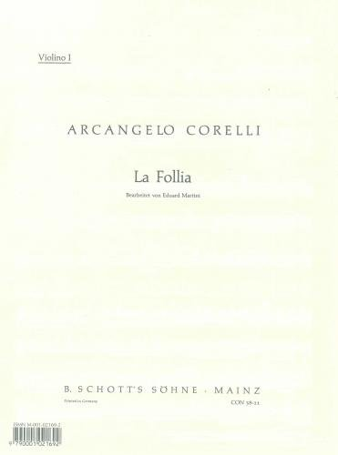 9780001021693: La Follia op. 5/12 (15 Variations of the Sarabande