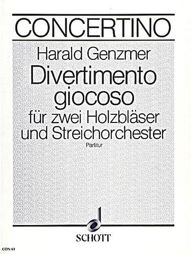 9780001022133: Divertimento giocoso - 2 bois (fl�tes, fl�tes � bec altos ou fl�te et hautbois) et orchestre � cordes - Partition - CON 61
