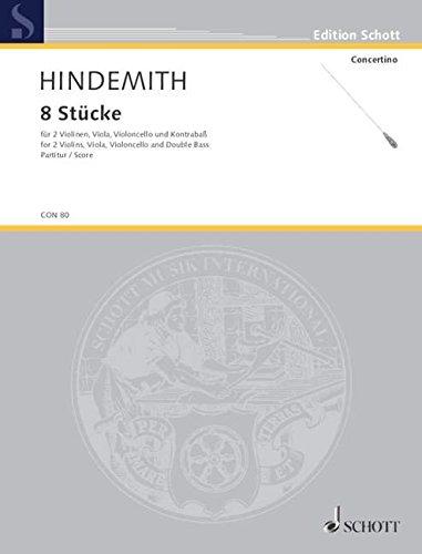 9780001022560: Eight Pieces op. 44 Nr. 3 (für zwei Violinen, Viola, Violoncello und Kontrabass)