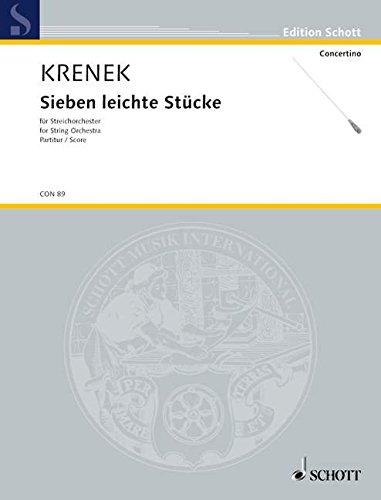 9780001022751: 7 leichte St�cke - orchestre � cordes - Partition - CON 89