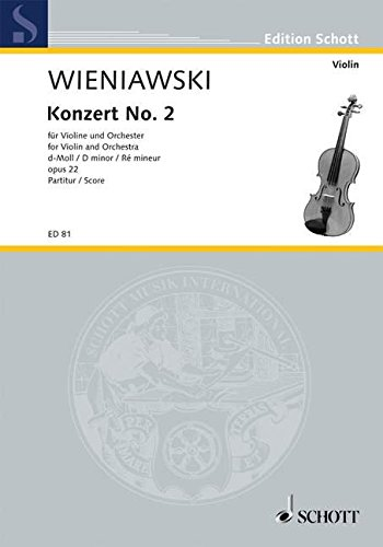 9780001030725: Violin Concerto No. 2 in D Minor op. 22