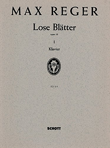 9780001031241: Lose Blatter op. 13 Band 1 - Piano - Book
