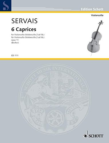 9780001032583: Servais: 6 Caprices Op.11 (1 or 2 Cellos)