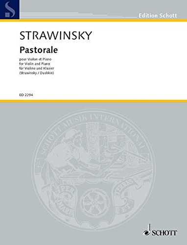 9780001036833: Stravinsky: Pastorale (Violin & Piano)