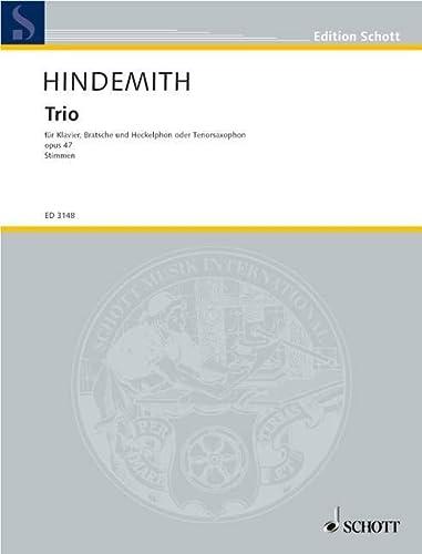 9780001040878: SCHOTT HINDEMITH PAUL - TRIO OP. 47 - VIOLA, HECKELPHONE AND PIANO Partition classique Cordes Alto
