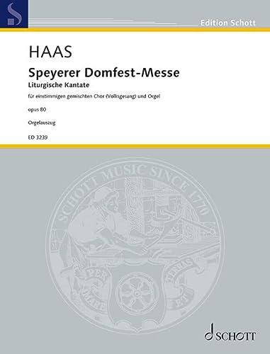 9780001041301: Speyerer Domfestmesse op. 80 (Liturgische Kantate)