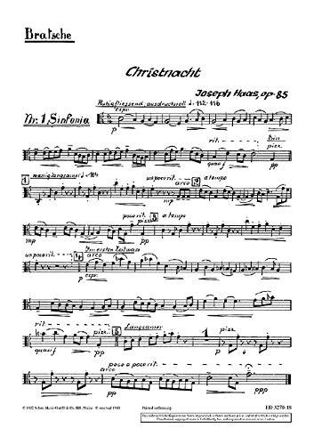 9780001042124: Christnacht op. 85 (Ein deutsches Weihnachtsliederspiel nach oberbayerischen und tiroler Weisen)