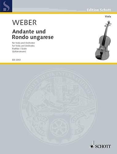 Andante und Rondo ungarese: Viola und Orchester.: Georg Schünemann
