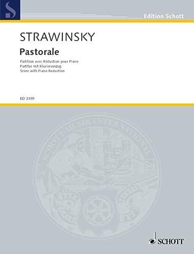 9780001042742: Partitions classique SCHOTT STRAVINSKY - PASTORALE - CONDUCTEUR Grand format