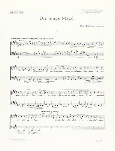 9780001042810: Die junge Magd op. 23/2 - 6 Gedichte von Georg Trakl - voix alto avec flûte, clarinette et quatuor à cordes - Partie séparée Violoncello - ED 3404-14