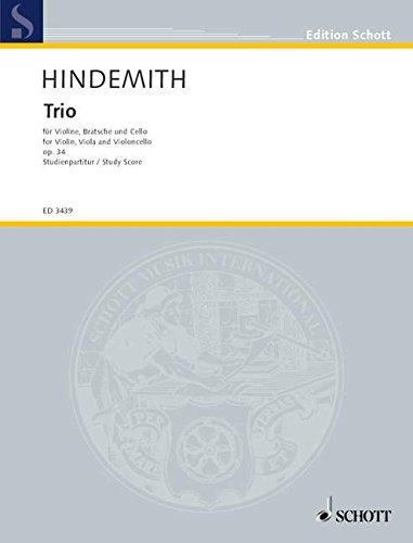 9780001042896: Trio op. 34 - für Violine, Viola und Violoncello - violon, alto et violoncelle - Partition d'étude - ED 3439