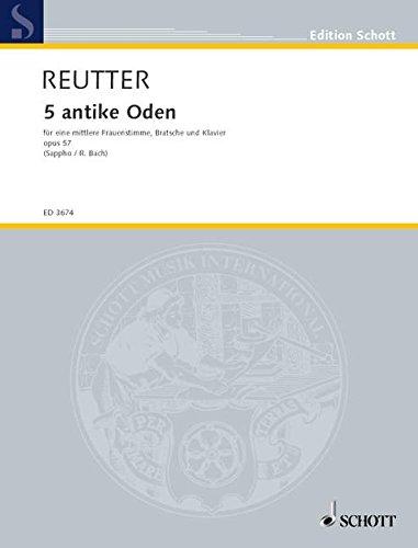 9780001043961: F�nf antike Oden op. 57 (nach Gedichten von Sappho)