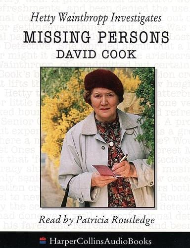 Missing Persons: Hetty Wainthropp Investigates AUDIO BOOK: Cook, David