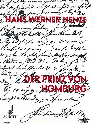 9780001058071: Der Prinz von Homburg - Vocal and Piano - SCORE