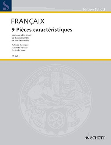 9780001068711: 9 characteristic Pieces - 2 Flutes, 2 Oboes 2 Clarinets, 2 Bassoons and 2 Horns - SCORE